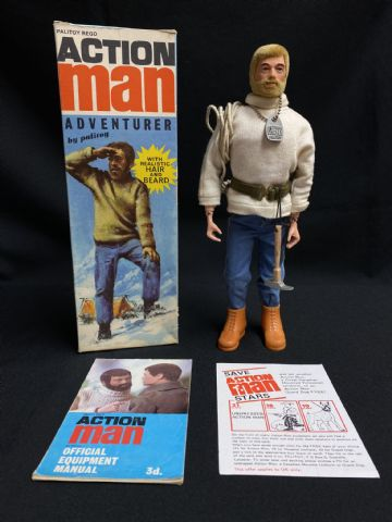 ACTION MAN - ADVENTURER 1st Issue Boxed Blonde Bearded figure (Ref7)